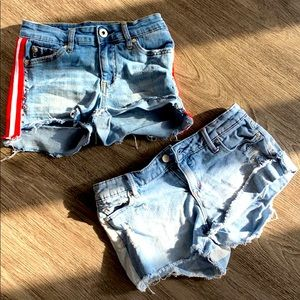2 pair of denim shorts purchased Nordstrom Size 12